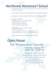 Winter Open House Flyer