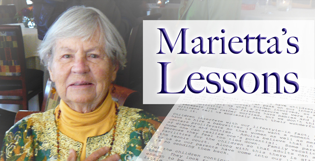 "Introducing ""Marietta's Lessons"""